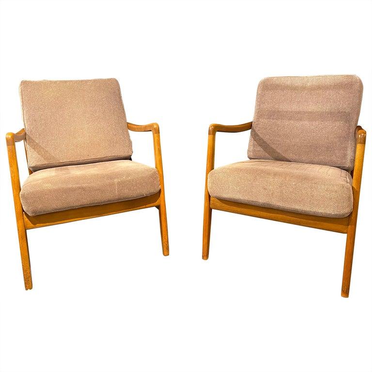 France and Daverkosen Teak Armchairs, Mid-Century Modern For Sale
