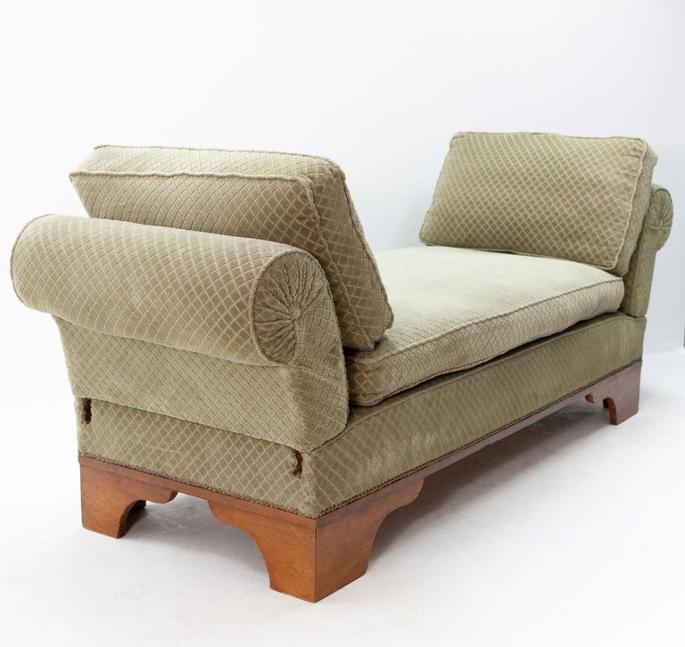 France Art Deco drop arm daybed  1