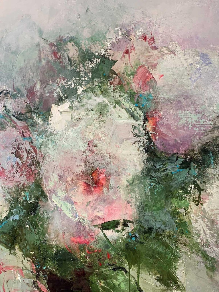 Harvest of Luxurious Time - Abstract Impressionist Painting by France Jodoin