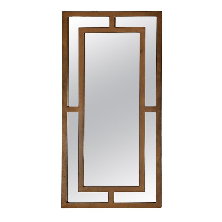 France Mirror Gold Powder-Coated Iron by CuratedKravet For Sale