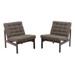 France & Søn, Pair of Danish Fireside Chairs in Rosewood, 1962