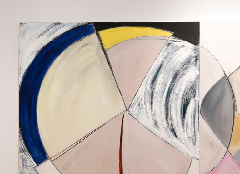 Court Ceremony (triptych - work in 3 panels) - Abstract Painting by Frances Barth