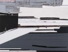 FRANCES BARTH COM 1, 2011 Acrylic, digital photo, on gessoed panel