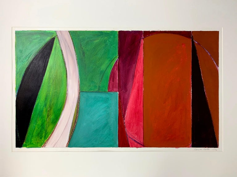 Untitled Drawing #302 - Abstract Mixed Media Art by Frances Barth