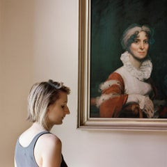 Edith, with a portrait of her ancestor