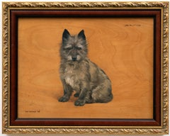 """""""Johnathan"""" Cairn Terrier Dog Portrait by Frances Mabel Hollams"""
