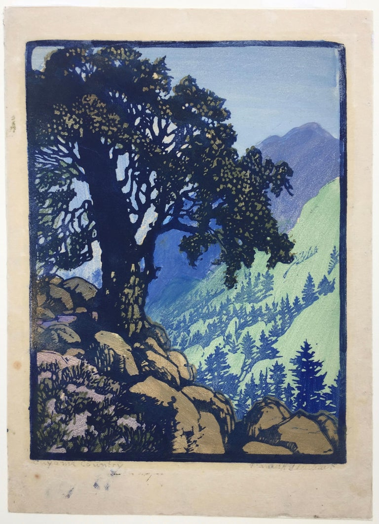 CUYAMA COUNTRY (Unique state) - American Modern Print by Frances H. Gearhart