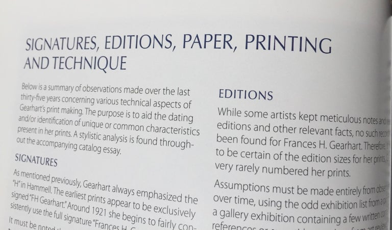 Frances H. Gearhart - New  Exhibition Catalog - Color Block Prints For Sale 3