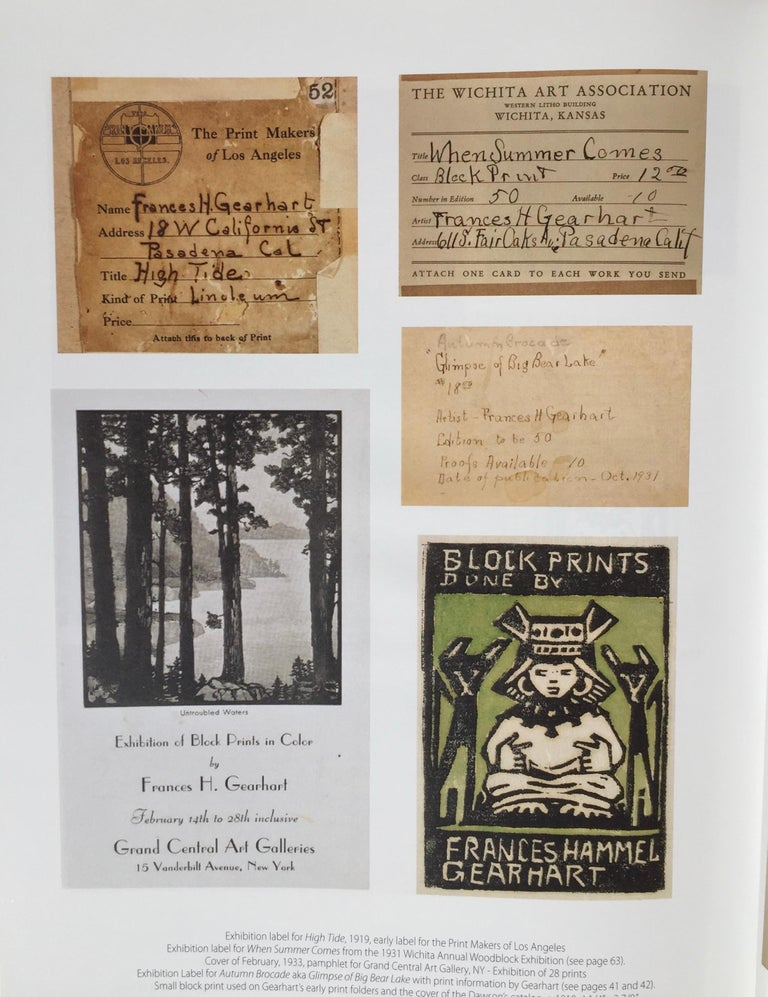Frances H. Gearhart - New  Exhibition Catalog - Color Block Prints For Sale 5