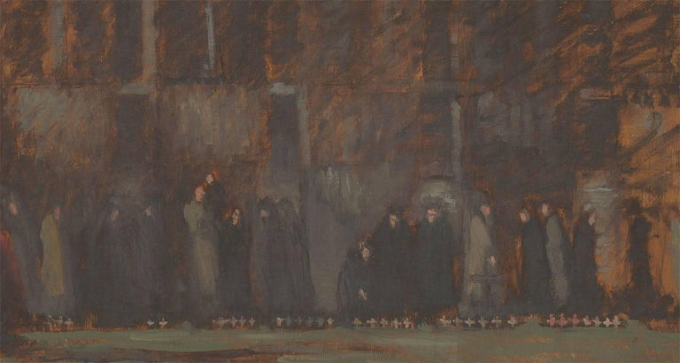 Frances Watt - Mid 20th Century Oil, Field of Remembrance, Westminster Abbey - Painting by Frances Watt