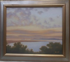LAKE AND HEAVEN original acrylic painting