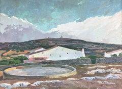 Spanish landscape Menorca Spain oil on canvas painting