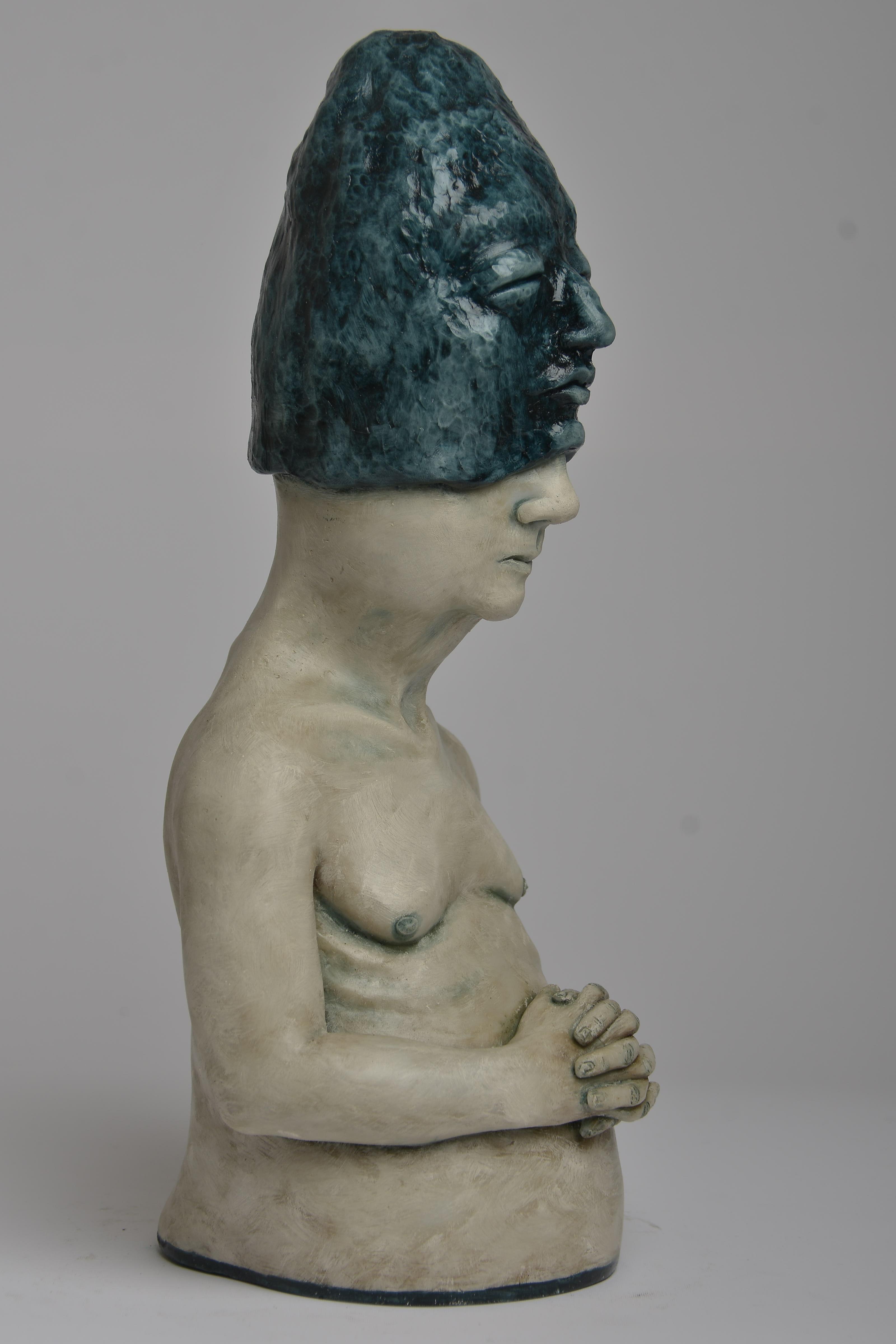 Deer Woman - Bronze - Unique Signed Sculpture - Francesca Dalla Benetta
