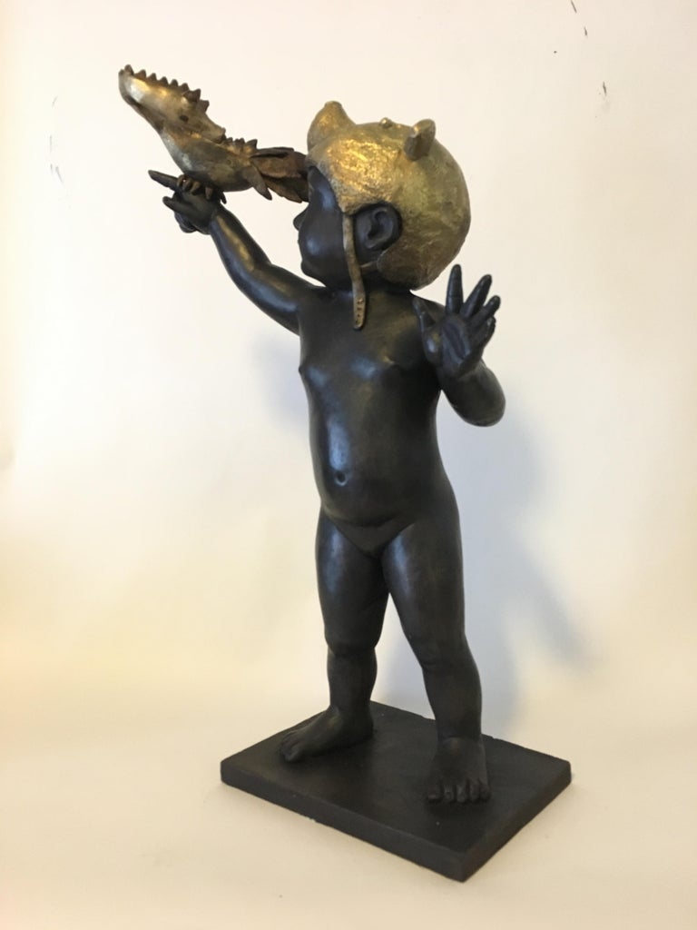 Everything is Possible - Bronze - Signed Sculpture - Francesca Dalla Benetta For Sale 8