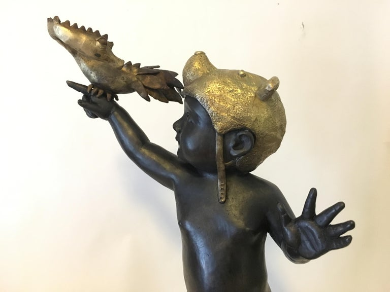 Everything is Possible - Bronze - Signed Sculpture - Francesca Dalla Benetta For Sale 2