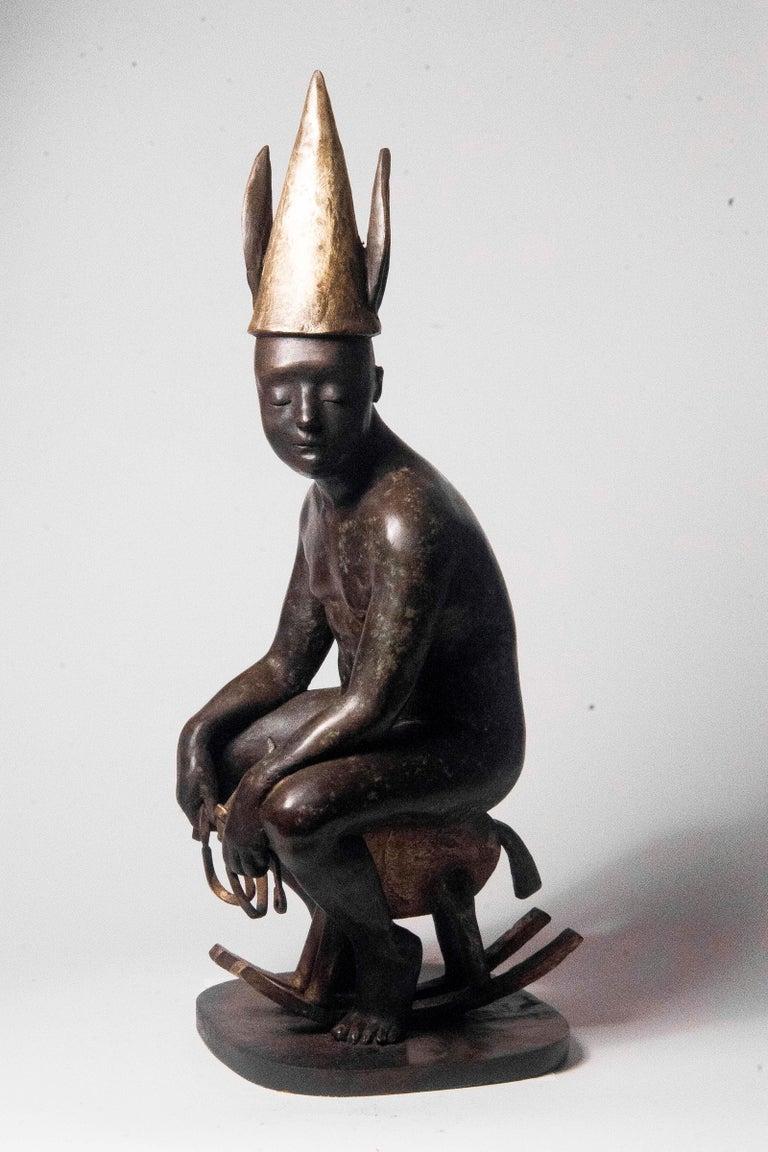 Pinochio - Bronze - Unique Signed Sculpture - Francesca Dalla Benetta For Sale 1
