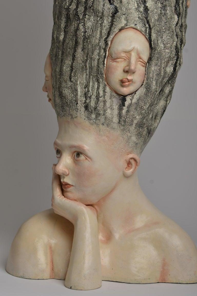 Who am I? - Unique Signed Sculpture - Francesca Dalla Benetta - Gray Still-Life Sculpture by Francesca Dalla Benetta