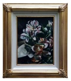 FLOWERS - Italian still life oil on canvas painting, Francesca Strino