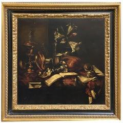 STILL LIFE - Italian Oil on Canvas Painting by Francesca Strino