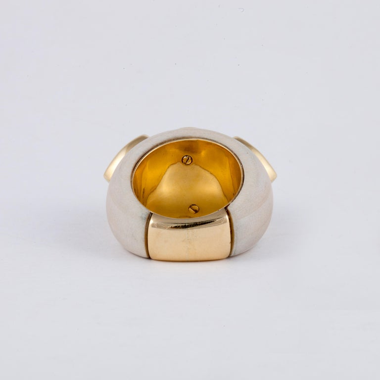 Francesca Visconti Wood and Topaz Ring For Sale 1