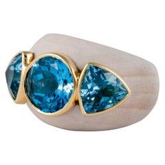 Francesca Visconti Wood and Topaz Ring