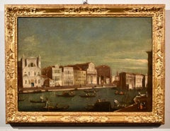 Albotto Paint Oil on canvas Old master Venice Landscape 18th Century Canaletto