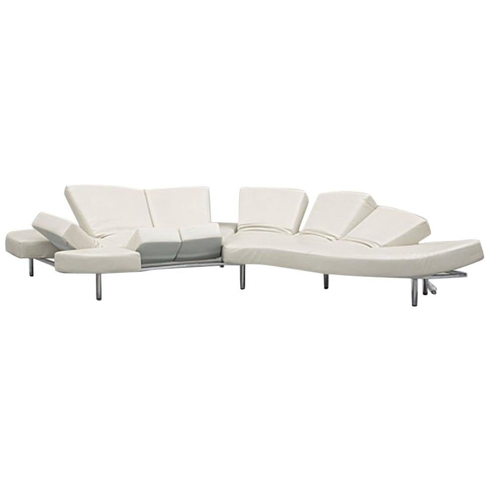Francesco Binfaré Flap Sofa or Daybed for Edra in White Leather