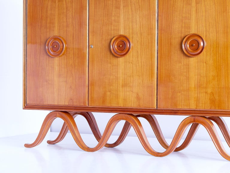 Francesco Bisacco Cabinet in Cherrywood, Turin, Italy, 1940s For Sale 5