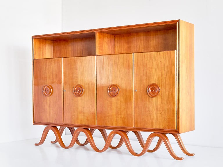 Francesco Bisacco Cabinet in Cherrywood, Turin, Italy, 1940s For Sale 8