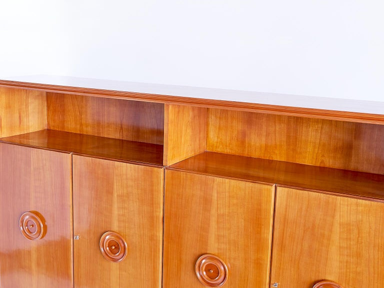 Francesco Bisacco Cabinet in Cherrywood, Turin, Italy, 1940s For Sale 2