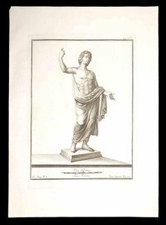 Ancient Roman Statue - Original Etching by Francesco Cepparoli - 18th Century