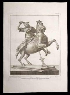 Legionnaire with the horse - Etching by Francesco Cepparoli - 18th Century