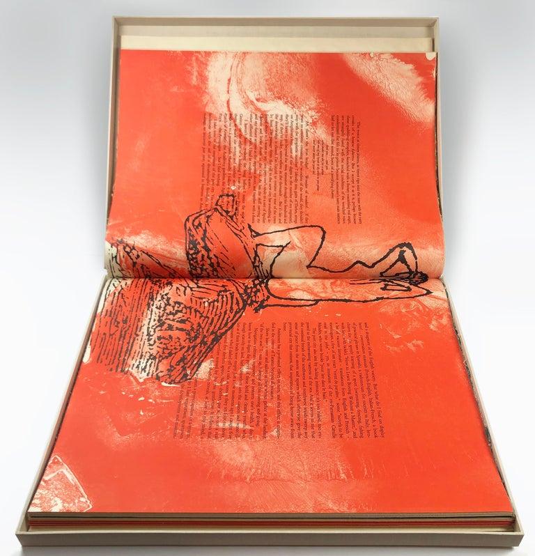 The Departure of the Argonaut (book) - Print by Francesco Clemente