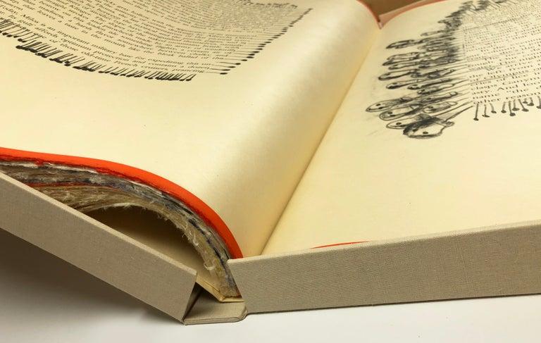 The Departure of the Argonaut (book) - Beige Landscape Print by Francesco Clemente