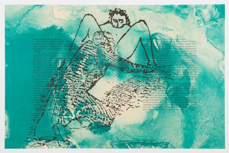 The Departure of the Argonaut (portfolio) - Abstract Print by Francesco Clemente