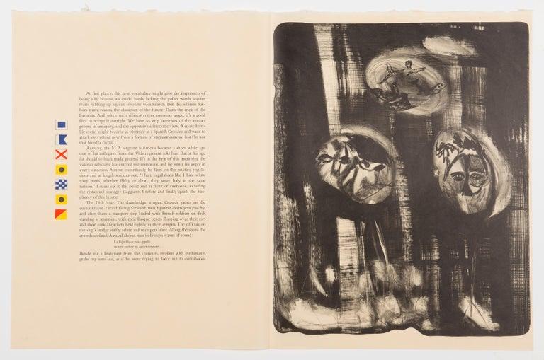The Departure of the Argonaut (portfolio) - Orange Figurative Print by Francesco Clemente