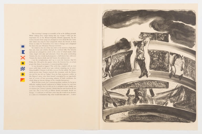 The Departure of the Argonaut (1918) is the travelogue and wartime diary of Alberto Savinio, one of the seminal figures in twentieth-century Italian arts and letters. Clemente's accompanying images transcend traditional illustration, providing a