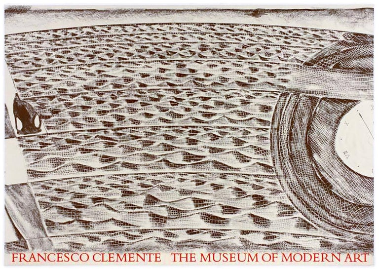 Vintage MOMA Francesco Clemente Museum of Modern Art 1986 dream myth poster - Gray Animal Print by Francesco Clemente