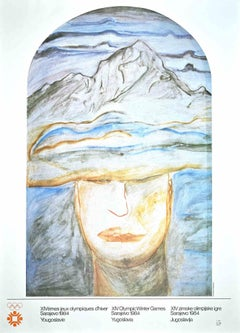 Winter Olympic Games Sarajevo 1984 - Vintage Poster by Francesco Clemente - 1984