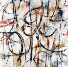"""""""Inciso I"""" contemporary Italian abstract painting musical rhythm dancing energy"""