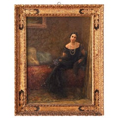 Francesco Ferraresi Mid-20th Century Portrait of a Woman Signed and Dated, 1934