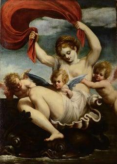Venus with putti Circle of Francesco Furini, oil on canvas