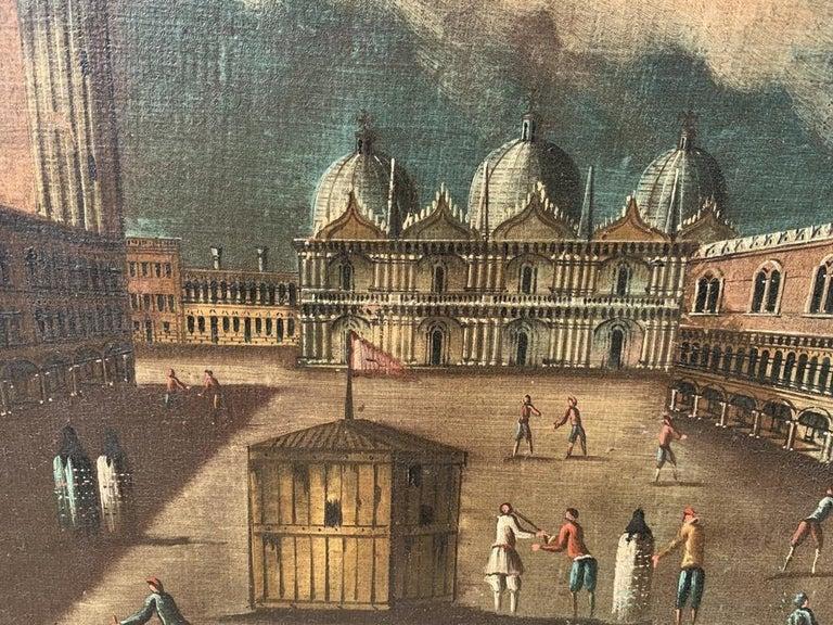 18th century Venetian painting - Venice - Oil Canvas Francesco Guardi follower 1