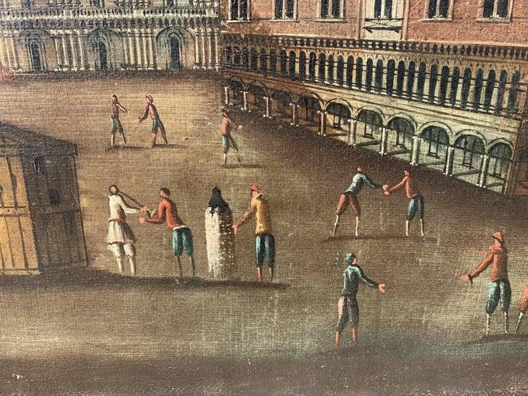 18th century Venetian painting - Venice - Oil Canvas Francesco Guardi follower 2