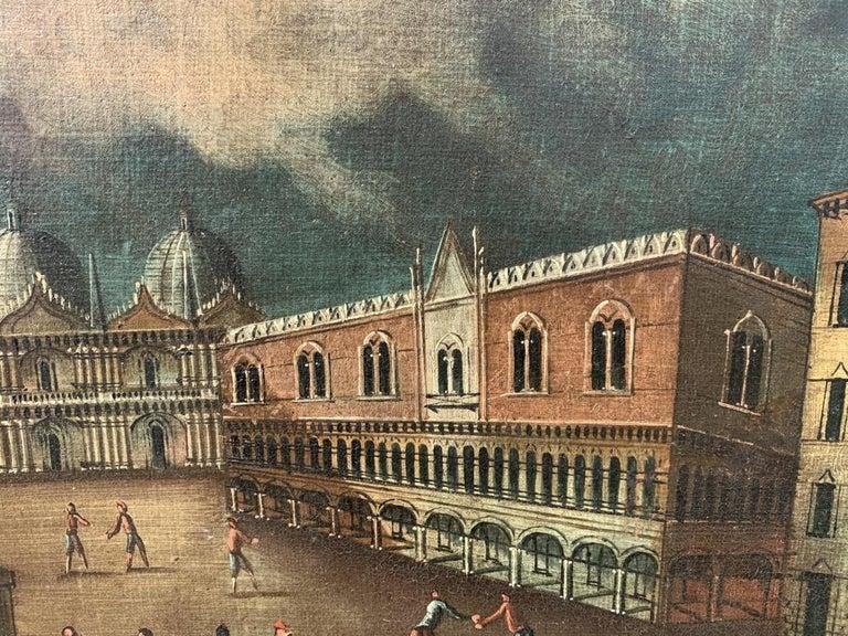 18th century Venetian painting - Venice - Oil Canvas Francesco Guardi follower 3