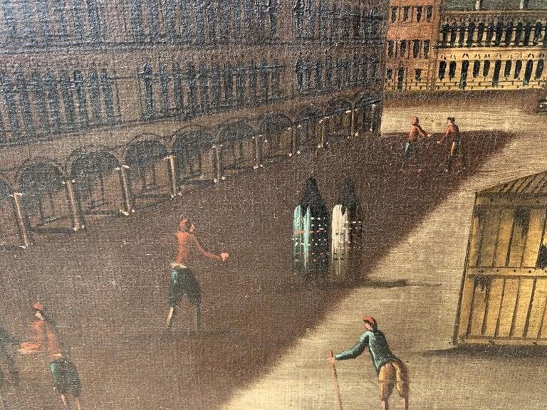 18th century Venetian painting - Venice - Oil Canvas Francesco Guardi follower 4
