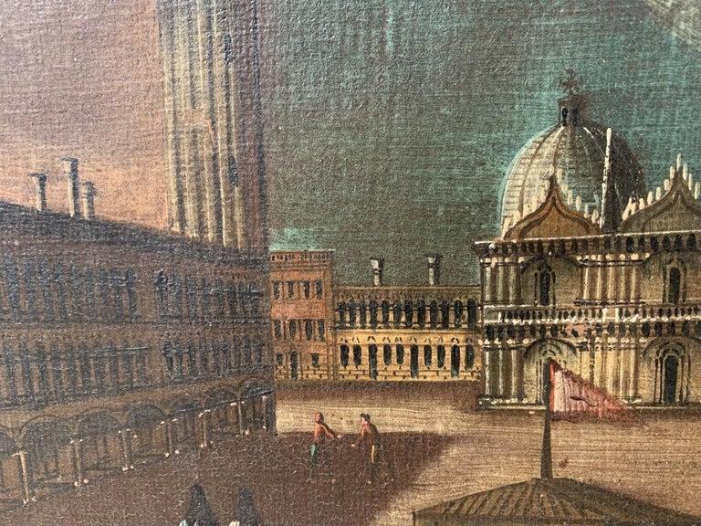 18th century Venetian painting - Venice - Oil Canvas Francesco Guardi follower 5