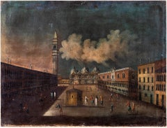 18th century Venetian painting - Venice - Oil Canvas Francesco Guardi follower