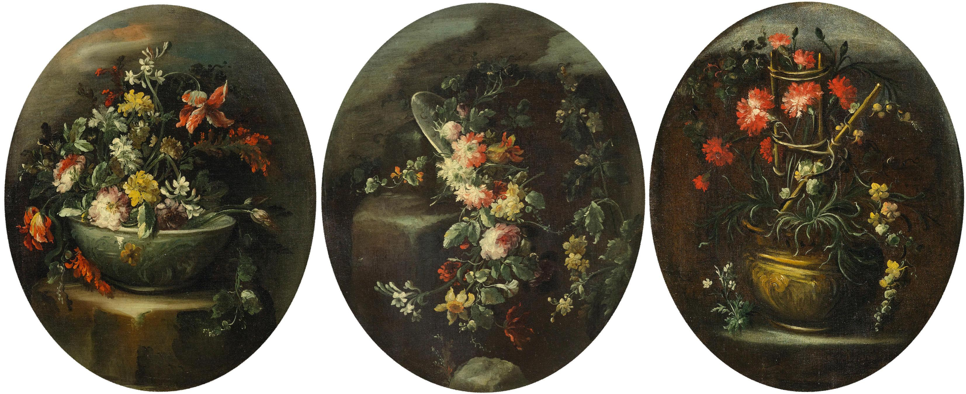 Still Lives Triptych - Oil on Canvas attr. to F. Guardi - Late 18th Century
