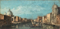 View of The Grand Canal With San Simeone Piccolo and San Geremia